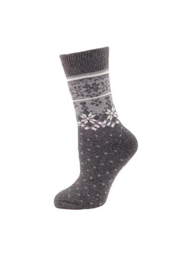 Panthzer  Casual Wool Socks Erkek Çorap Gri Gri